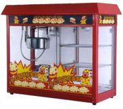 Аппарат для попкорна STARFOOD с тепловой витриной