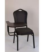Банкетный стул Квадро 25мм с пюпитром - черный, синий ромб