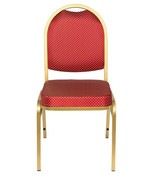 Банкетный стул Раунд 20 золото, красная корона