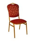 Банкетный стул Квадро 20мм с накладной спинкой – золотой, красные цветы