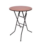 Стол складной круглый коктейльный Ривьера D80 Орех