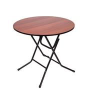 Стол складной круглый Ривьера D80 Орех